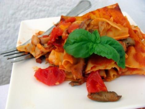 Reteta de post a zilei: Lasagna cu ciuperci