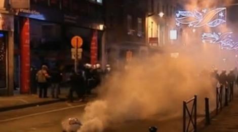 VIDEO! Revolta congoleza la Bruxelles: magazine si masini, distruse