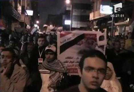 VIDEO! Egiptenii nu renunta la proteste