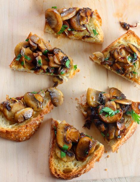 Reteta de post: Bruschete cu ciuperci