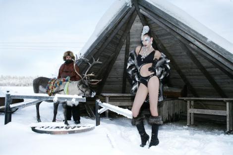 VIDEO! Concurentele Next Top Model au pozat la -27 de grade Celsius