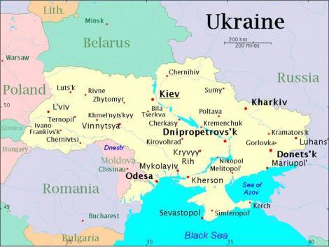 Oficial de la Kiev: Rusia, Romania, Polonia si Turcia vor imparti intre ele teritoriul Ucrainei