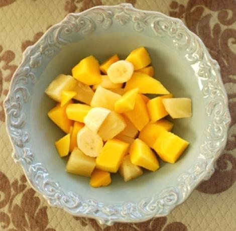 Reteta de post a zilei: salata de ananas cu sirop de ghimbir