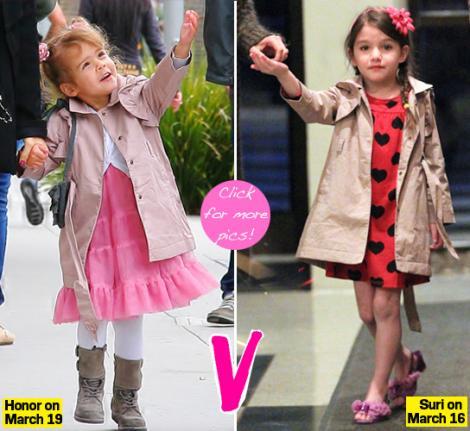 Trenciul e la moda printre copiii celebritatilor