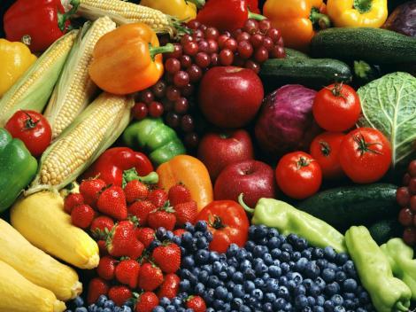 Invata sa te hranesti corect in functie de culoarea fructelor si legumelor!