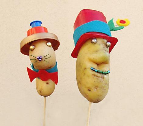 Do it yourself: Oameni si animale din cartofi
