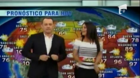 VIDEO! Tom Hanks prezinta vremea dansand la o televiziune spaniola