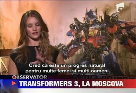 "VIDEO! ""Transformers 3"" a avut premiera mondiala la Moscova"
