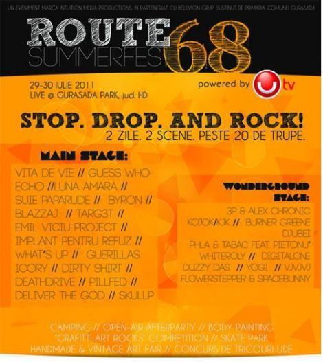 Tricouri ude si muzica rock la Route68 Summerfest