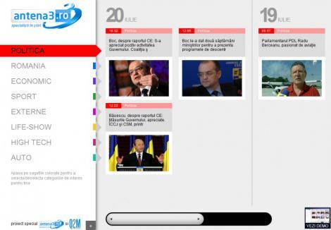 Antena 3 si IE9 lanseaza versiunea speciala Antena3.ro! Vezi cum arata!