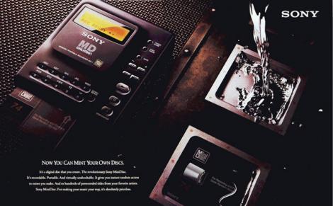 FOTO! Final de drum pentru Sony MiniDisc Walkman