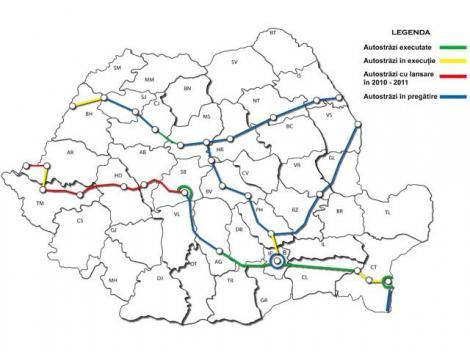 FOTO! Vezi harta autostrazilor Romaniei!