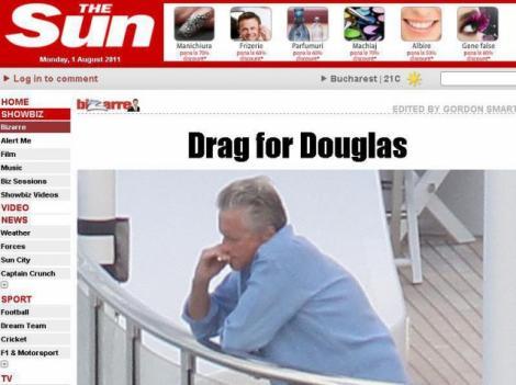 VIDEO! Abia scapat de cancer la gat, Michael Douglas fumeaza din nou!
