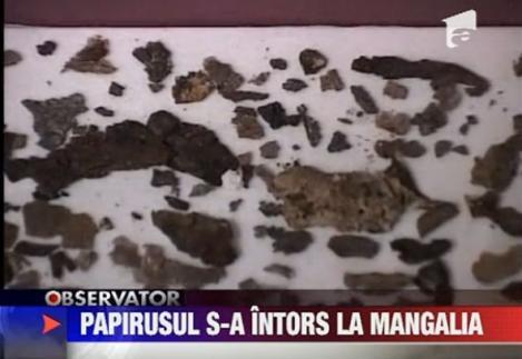 VIDEO! Cel mai vechi papirus gasit in Europa s-a intors in Romania