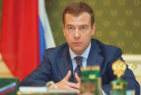 "Dmitri Medvedev acuza Ucraina ca vrea sa ""stoarca"" gaze de la Rusia"