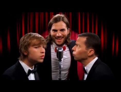 """VIDEO! Ashton Kutcher in """"Doi barbati si jumatate"""""""