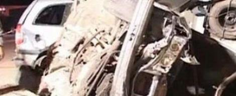 VIDEO! Dambovita: Un sofer a lesinat la volan cu piciorul intepenit pe acceleratie