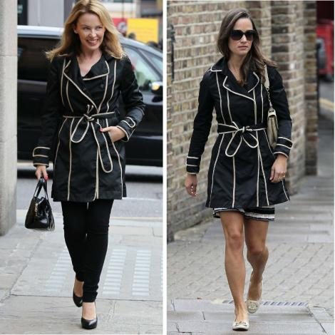 FOTO JENANT! Kylie Minogue si Pippa Middleton, imbracate identic