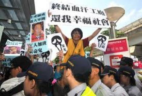 150 de muncitori din China ameninta cu sinuciderea in masa