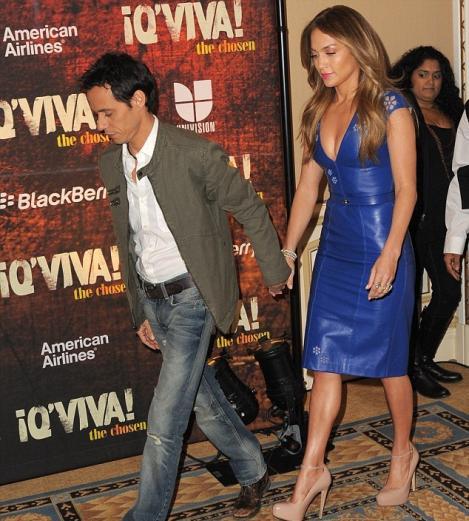 SOC! Jennifer Lopez si Marc Anthony, tinandu-se de mana!