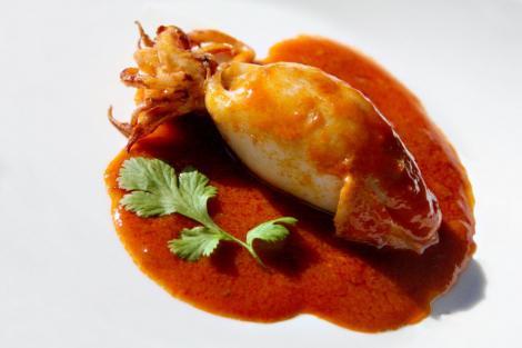 Reteta: Calamar umplut cu ciuperci si orez