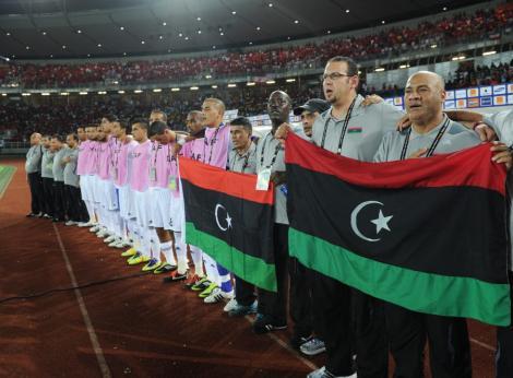FOTO! Libienii si-au prezentat noul steag la Cupa Africii pe Natiuni