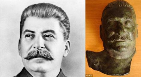 O sculptura cu chipul dictatorului Stalin, aproape 5.000 de lire