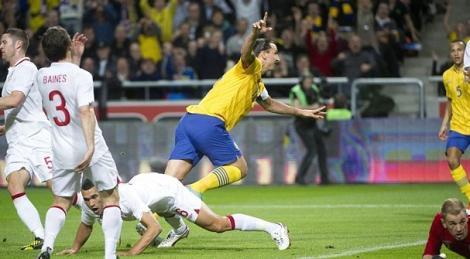 """VIDEO! Ibrahimovic a inscris 4 goluri in poarta Angliei! Ultimul dintr-o """"foarfeca"""" senzationala de la 25 de metri!"""
