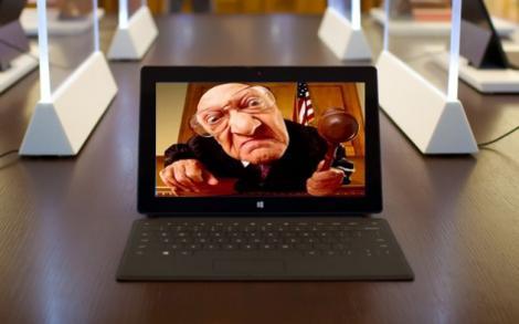 Microsoft Surface chemata la tribunal