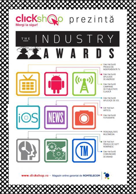 The Industry Awards 2012, Premiile care stabilesc trendurile multimedia