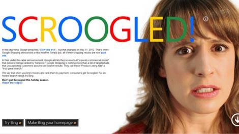 Scroogled! – Microsoft ataca din noua Google printr-o campanie