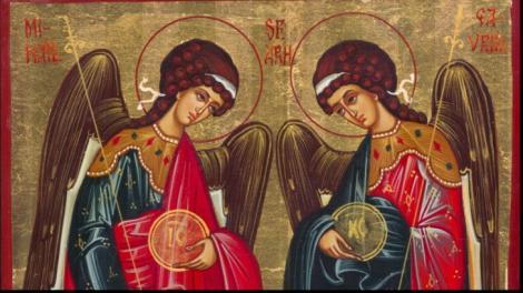 Peste 1,3 milioane de romani isi serbeaza astazi onomastica de Sfintii Arhangheli Mihail si Gavriil
