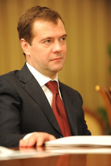 "Premierul Rusiei, Dmitri Medvedev: ""Eu cred in Mos Gerila"""