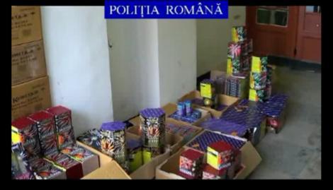 Aproape 200.000 de petarde si pocnitori, confiscate de politistii bucuresteni
