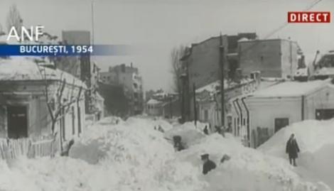FOTO! Cum a aratat iarna din '54, dupa ce Igas a spus ca vine o iarna ca acum 58 de ani