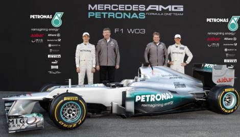 "FOTO! F1: ""W03"", noul monopost MercedesGP"