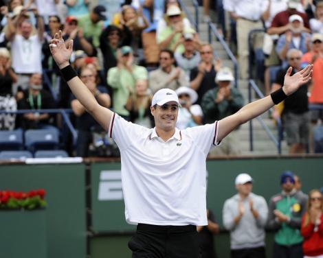 Isner, in finala de la Indian Wells, dupa ce l-a invins pe Djokovic