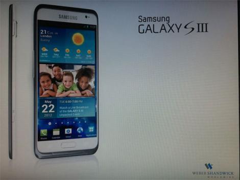 FOTO! O noua imagine cu Samsung Galaxy S III a aparut pe internet!