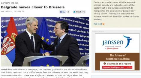 """The Economist: Opozitia Romaniei fata de candidatura Serbiei la UE, o """"reprezentatie penibila"""""""
