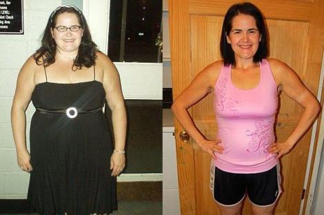 FOTO! O femeie a slabit 65 de kilograme invatand hula hoop