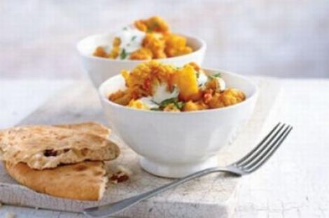 Reteta de post: Curry de conopida cu cartofi