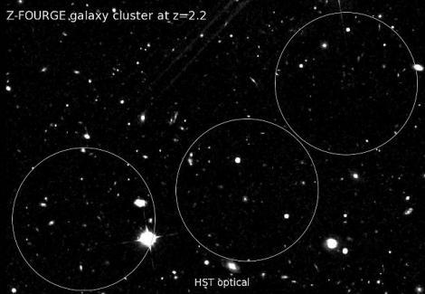 FOTO! Vezi cum arata cel mai indepartat grup de galaxii!