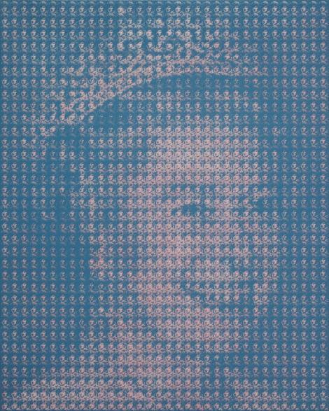 FOTO! Un artist realizeaza portrete din stampile