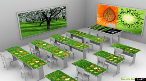 FOTO! Salile de clasa ale viitorului vor avea banci cu ecrane touchscreen