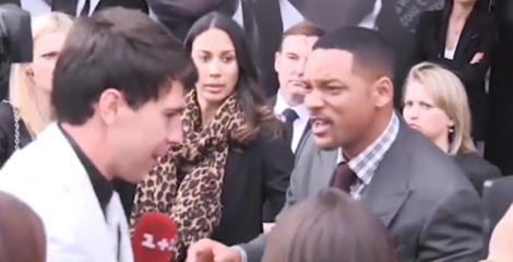 VIDEO! Will Smith a pleznit un jurnalist care a incercat sa il sarute