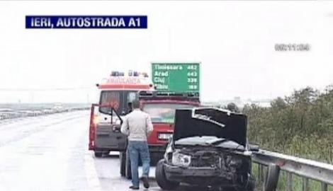 VIDEO! Accident spectaculos pe autostrada Bucuresti - Pitesti