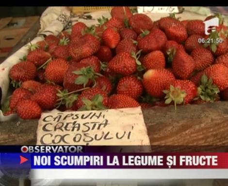 Fructele si legumele s-au scumpit din nou luna trecuta