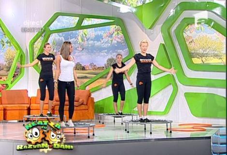 Hula Hoop si trambulina, alternativa distractiva la antrenamentele cardio