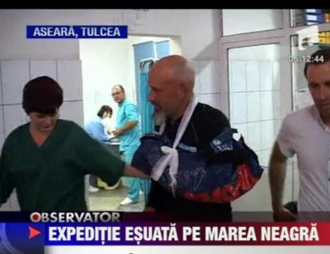 Expeditie esuata pe Marea Neagra: Un norvegian a fost salvat din larg de Garda de Coasta