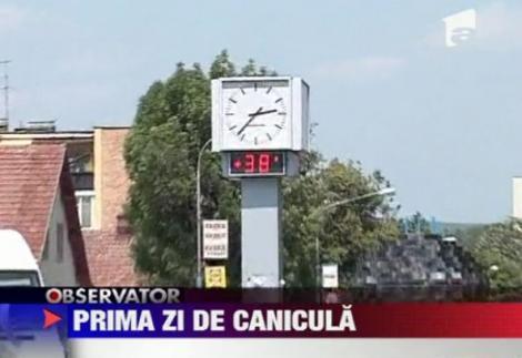 VIDEO! Prima zi de canicula din 2012, in Romania